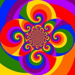 Пазл онлайн: Спиральки
