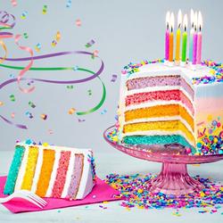 Пазл онлайн: Радужный торт