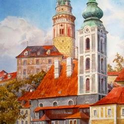 Пазл онлайн: Чешский Крумлов