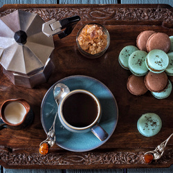 Пазл онлайн: Утренний кофе и сладости