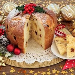 Пазл онлайн: Рождественский кекс