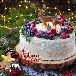 Пазл онлайн: Бисквитный торт