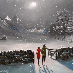 Пазл онлайн: Прогулка в зиму