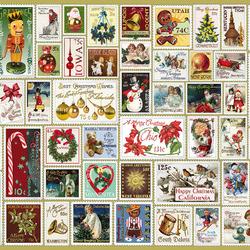 Пазл онлайн: Праздничные марки