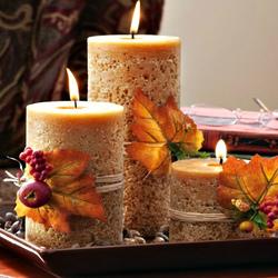 Пазл онлайн: Осенние свечи