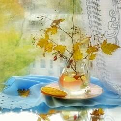 Пазл онлайн: Плачет осень