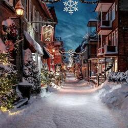 Пазл онлайн: Сказочный Рождественский  вечер