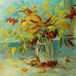 Пазл онлайн: Осень на окне