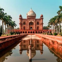 Пазл онлайн: Мавзолей Хумаюна в Дели