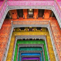 Пазл онлайн: Разноцветные дома