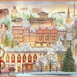 Пазл онлайн: Рождество в Эдинбурге