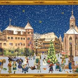 Пазл онлайн: Рождественский календарь