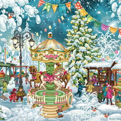 Пазл онлайн: Новогодняя ярмарка