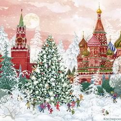 Пазл онлайн: Ёлка в Москве