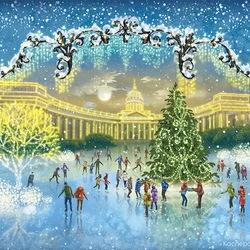 Пазл онлайн: Ёлка у Казанского собора