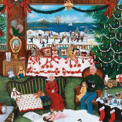 Пазл онлайн: Рождество у бабушки и дедушки
