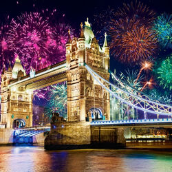 Пазл онлайн: Праздничный Лондон