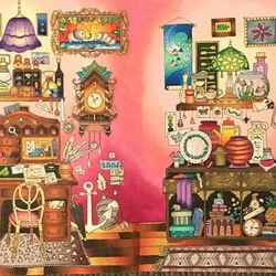Пазл онлайн: Розовая комната