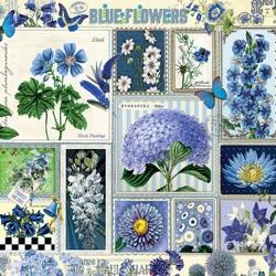 Пазл онлайн: Голубые цветы