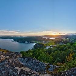 Пазл онлайн: Вид с горы