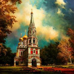 Пазл онлайн: Русская церковь Рождества Христова на Шипке