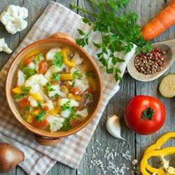 Пазл онлайн: Суп с цветной капустой