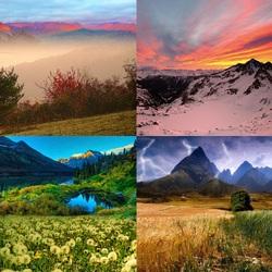 Пазл онлайн: Жизнь гор