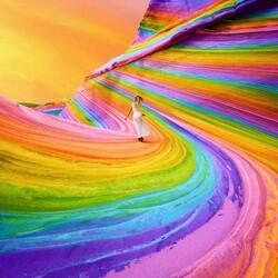 Пазл онлайн: Радужный мир