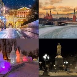 Пазл онлайн: Зимняя Москва