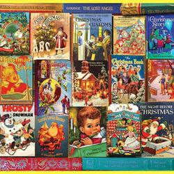Пазл онлайн: Рождественские книги
