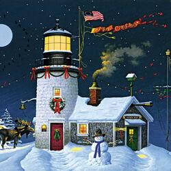 Пазл онлайн: Праздничный маяк