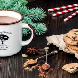 Пазл онлайн: Какао с печеньем