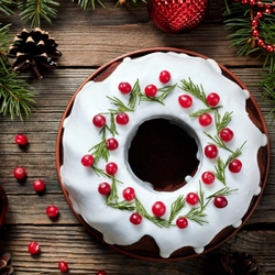 Пазл онлайн: Новогодний пирог