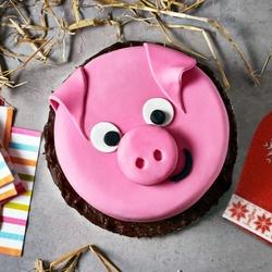 Пазл онлайн: Торт Свинка