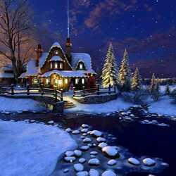 Пазл онлайн: Тиха Рождественская ночь