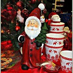 Пазл онлайн: Дед Мороз с подарками