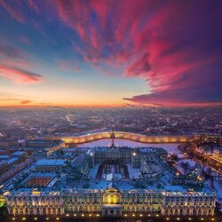 Пазл онлайн: Панорама Санкт-Петербурга