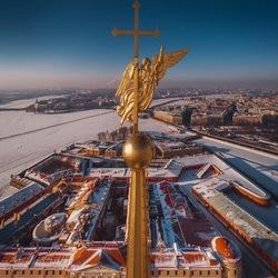 Пазл онлайн: Шпиль Петропавловской крепости