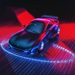 Пазл онлайн: Авто в неоне