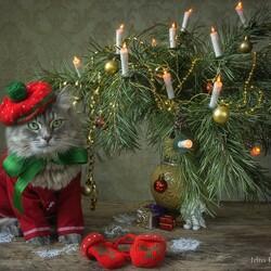 Пазл онлайн: Масяня встречает Новый Год
