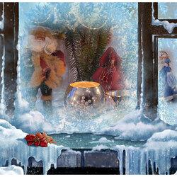 Пазл онлайн: Нарисуй мороз на окне