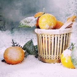Пазл онлайн: Зимние фрукты
