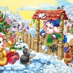 Пазл онлайн: Новогодние радости