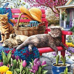 Пазл онлайн: Хорошо в саду