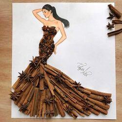 Пазл онлайн: Платье из корицы и аниса