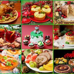 Пазл онлайн: Новогодние блюда