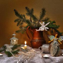 Пазл онлайн: Рождественский натюрморт