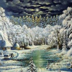 Пазл онлайн: Сказочная зима