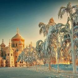 Пазл онлайн: Рождественские морозы в  Белогорье