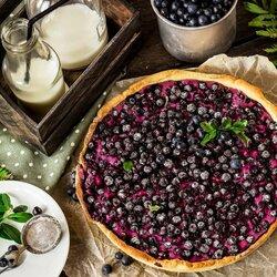 Пазл онлайн: Черничный пирог